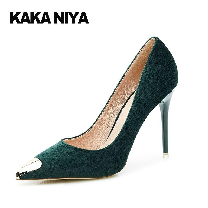 Noir Chaussures Talon Taille Femmes Haute Automne Bureau Nude Pompes Stiletto Vin Ultra Petite nu 34 Bout Rouge vert vin Rouge 4 Mode Pointu Talons 2017 q8URPR