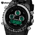Infantry marca sport reloj de pulsera militar de los hombres relojes a prueba de agua moda reloj digital de silicona hombre reloj relogio masculino