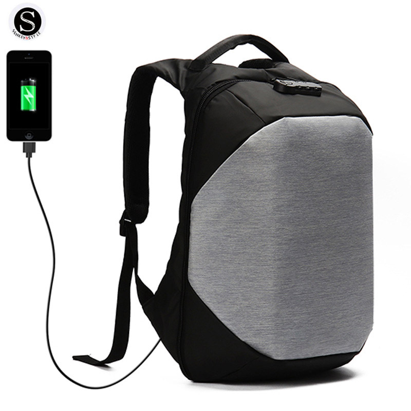 Men Backpack USB Charge Laptop Backpack Anti theft Backpack USB Charge Multifunctional Oxford Travel Bag Computer Bag Bagpack