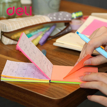 Deli 1Pack/15 Sheets Flip Sticky Notes memo pad Kawaii 5 Colors 30 children Memo Pads Self-Adhesive 76x101mm 3x5 7150