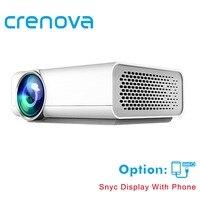 CRENOVA Full HD проектор Поддержка К 4 к * 2 к видео для домашнего кинотеатра проекторы Проводные с тем же экраном с HDMI AV USB