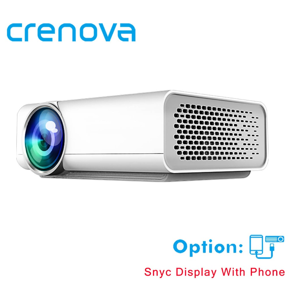 US $88 39 32% OFF|CRENOVA Full HD Projector Support 4k*2k Videos For Home  Theater Projectors Wired With The Same Screen With HDMI AV USB Beamer-in  LCD