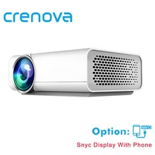 CRENOVA Full HD Projector Support 4k*2k Videos For Home Theater Projectors Wired With The Same Screen With HDMI AV USB Beamer