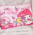 Kawaii Bowknot My Melody Storage Bag File Pen Case Korean Christmas Cos Gift Canvas