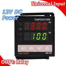 Régulateur numérique Intelligent de température, Thermostat, Thermostat, capteur K PT100, entrée et sortie de relais, 12V DC