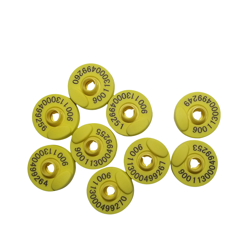 X20pcs Free Shipping 134.2KHz FDX-B Round And Opened Animal RFID Ear Tag For Livestock Cattle Cow Management