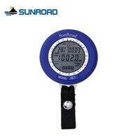 SUNROAD Waterproof Mini LCD Digital Fishing Barometer Altimeter Thermometer Multifunction Lure Line Fish Finder Carabiner SR204