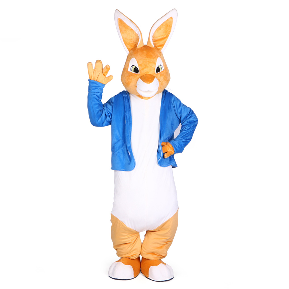 fbb59d32c6391 Peter Rabbit Mascot Costumes Christmas Unisex Mascots Suit Fancy Dress for  Adult full outfit Hallween Purim party