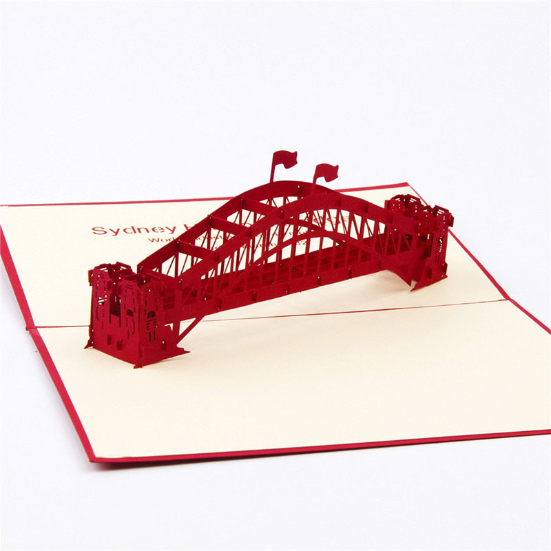 3D Laser Cut Handmade Sydney Harbour Bridge Paper