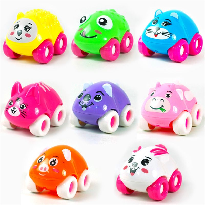 New Product Cartoon 6pcs Magnetic Cute Animal Car Toys Connected Head To Tail Like A Train Baby Kids Toy in Diecasts Toy Vehicles from Toys Hobbies