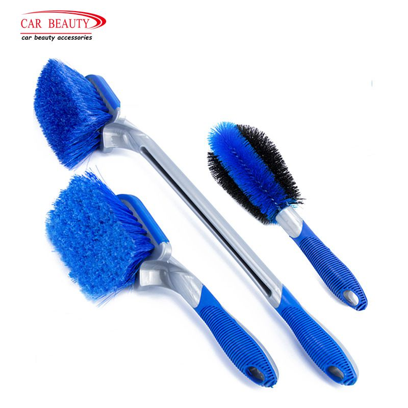 3 Size Multi-Functional Car Tyre Cleaning Brush Tire Wheel Rim Hub Brushes Auto Washer Vehicle Body Surface Wheel Scrub Cleaner mjjc wheel and tire coating sponge brush car motorcycle vehicle wheel tire brush waxing sponge removable cleaning hand tools