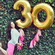 2pcs 32 Or 40 inch Happy 30 Birthday Foil Balloons pink blue gold number 30th Years Old Party Decorations Man Boy Girl Supplies