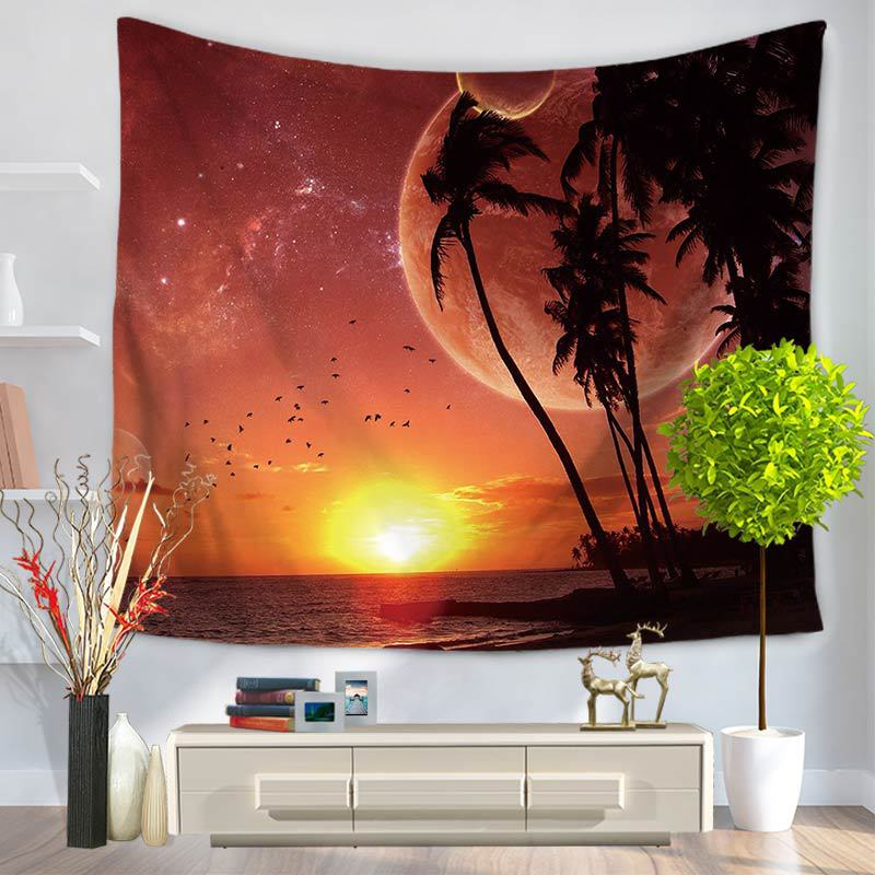 Havay Dəniz Görünüşü Qobelen Divarı Asma 3D HD Çap Qobelen Ev - Ev tekstil - Fotoqrafiya 5