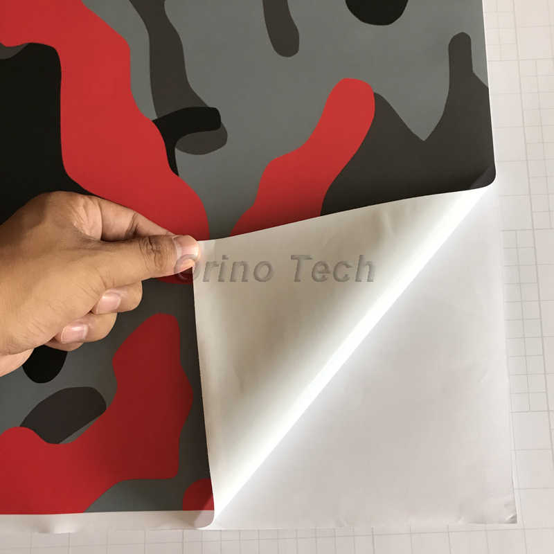c4c269d1709e7 ... Adhesive Red Black Grey Camo Car Scooter Vinyl Car Wrap Sticker  Camouflage Printed Graphics PVC Wrapping ...