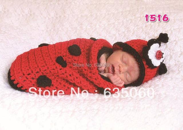 Free Shipping Crochet Baby Hatssleeping Bag Infant Sleep Sack