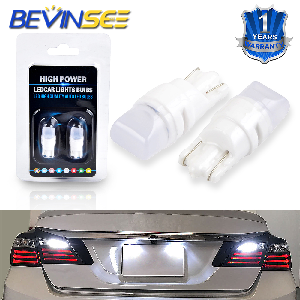 Bevinsee T10 T12 T15 194 175 168 #555 2835-SMD Chips LED Light Bulbs For Ford F-150 Car Dome License Map Lamp Parking Light Bulb
