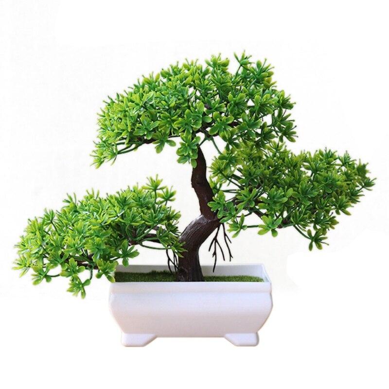 2019 1PCS Artificial Plants Pine Greeting Guests Potted Plant Green Plant Artificial Plants Home Decor