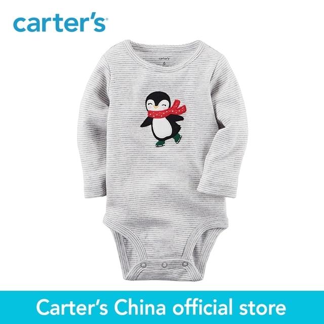06977aea7105b Carter's 1-Piece baby children kids clothing Girl All season Cotton Penguin  Collectible Bodysuit 118H735