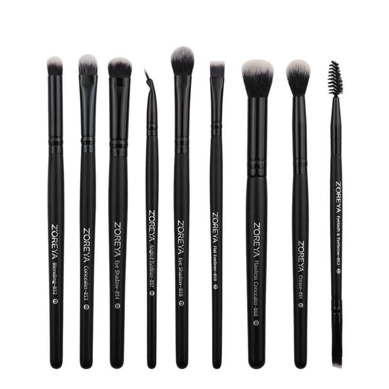Zoreya 9Pcs Makeup Brushes For Eye Concealer Eyeshadow Eyeliner Blending Brush Set