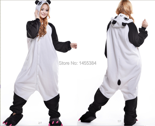 f628f6dd4960 Adult Animal Onesies Halloween Costumes for Women and Men Panda Adult  Cosplay Costume Dress Up Clothing Wholesale Free Shipping