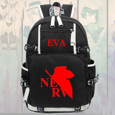 Hot Anime Neon Genesis Evangelion EVA Backpack Cosplay Fashion Canvas Bag Luminous Schoolbag Travel Bags все цены