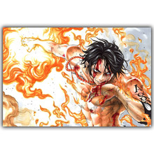 Japanese Anime One Piece Poster Boy And Girl Favorite Cartoon Bedroom Decorative Arts Silk Wallpaper DM350