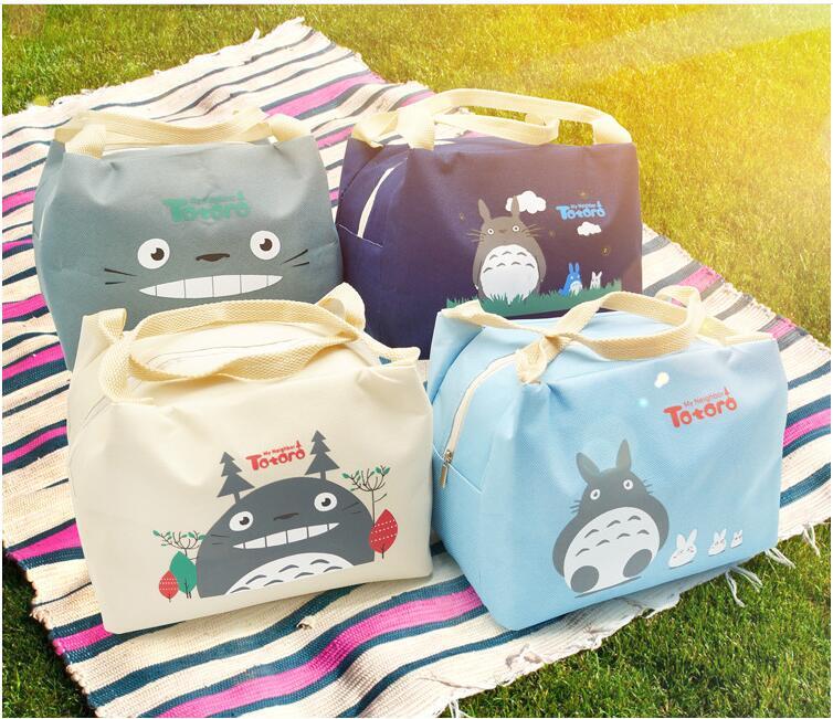 1 Piece Oxford Canvas Totoro Cute Lunch BAG NEW Handbag Food TOTE Pouch BOX Keep Warm 3 Year Warranty