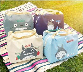 1 piece Oxford Canvas Totoro Cute Lunch BAG NEW Handbag food TOTE Pouch BOX keep warm 3 year warranty new for 5207 32p0765 32p0766 146g 10k fc ds4300 1 year warranty