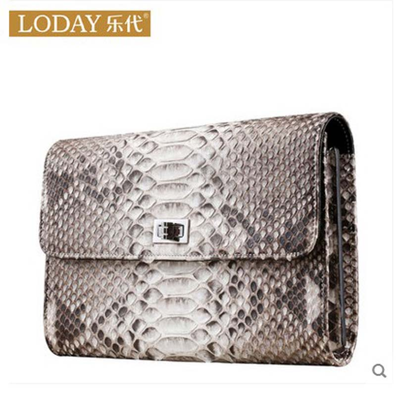 все цены на  ledai 2017 new imported python skin women bag female clutch bag freeshipping Single shoulder chain bag python  онлайн