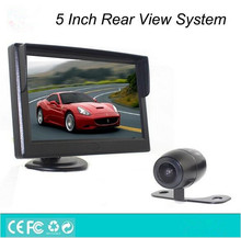 Car rear view camera and reverse monitor car parking assistant system,Vehicle auto 5 inch display monitor + car rear view camera