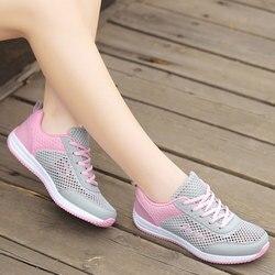 a7b7662a9 MWY Mulheres Sapatos Tenis Feminino Sapatos de Caminhada Ao Ar Livre Sapatos  Casuais Mulheres Apartamentos Rosa