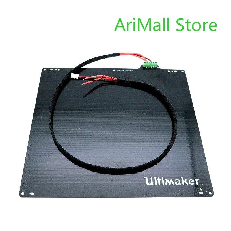 UM2 Ultimaker 2 + extendida UM2 + de alta potencia de apoyo de alta temperatura de impresión con cama caliente placa de calefacción 3D impresora