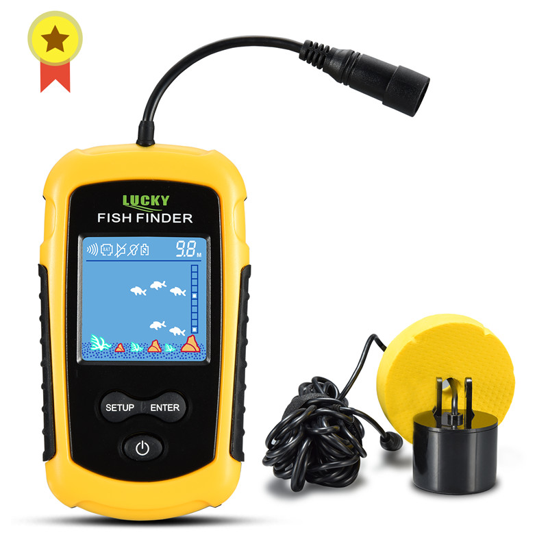 Russian Manual FFC1108 1 Hot Sale Alarm 100M Portable Sonar LCD Fish Finders Fishing lure Echo