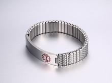 Men's Medical Alert ID Bracelet 12mm Stainless Steel