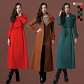 New autumn and winter wool overcoat ultra long design thickening woolen women coat women wool coats outerwear free shipping