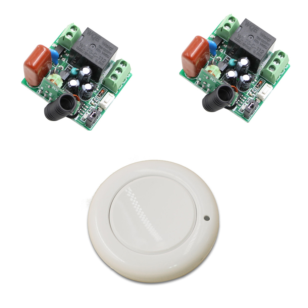 220V AC Mini Remote Switch Input Output 220V Learning Code RF Wireless Switch Radio Transmitter Receiver 315/433mhz New