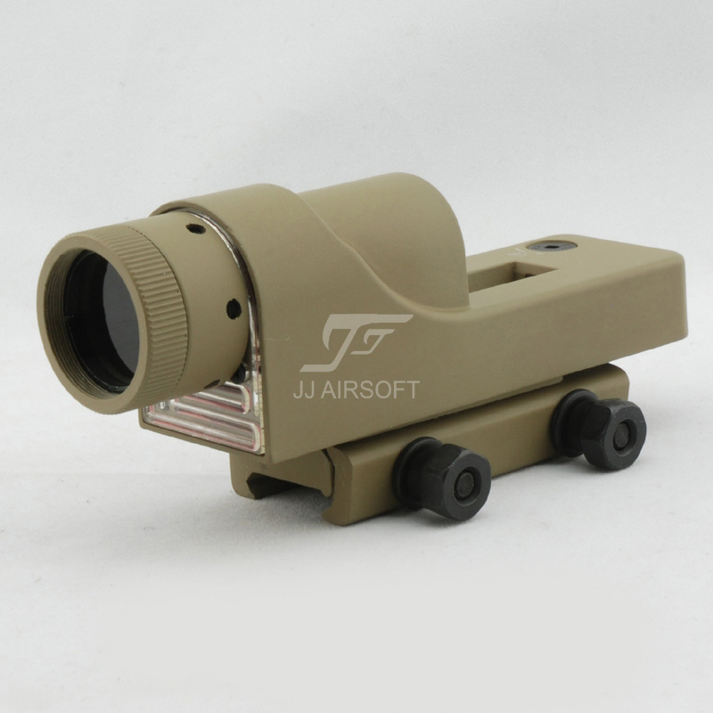 JJ Airsoft 1x24 רפלקס Red Dot (Tan) RX06: רפלקס משולש - ציד