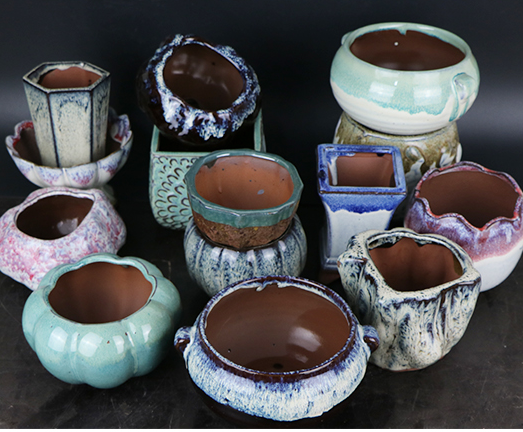 2017 New European Creative Succulents Bonsai Pots Home Decor Ceramic Crafts Ornaments Desktop Mini Fleshy Flowerpots For Plants