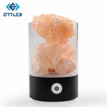 Натуральная Гималайская соляная лампа Светодиодная usb кристаллический