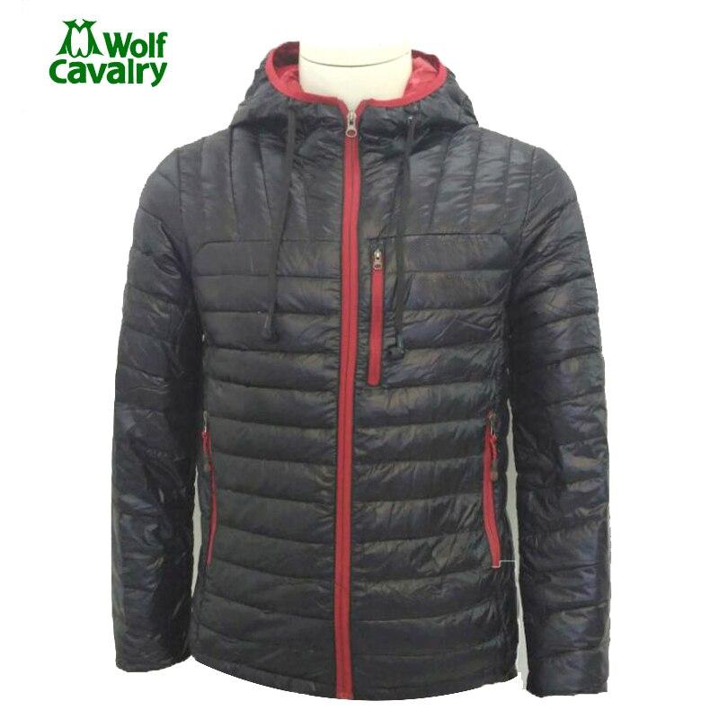 cavalrywolf Mens Winter Outdoor Sports Warm Camping Puffer Jacket ultra light down jacket men Hiking Duck Down Hoodie Coats