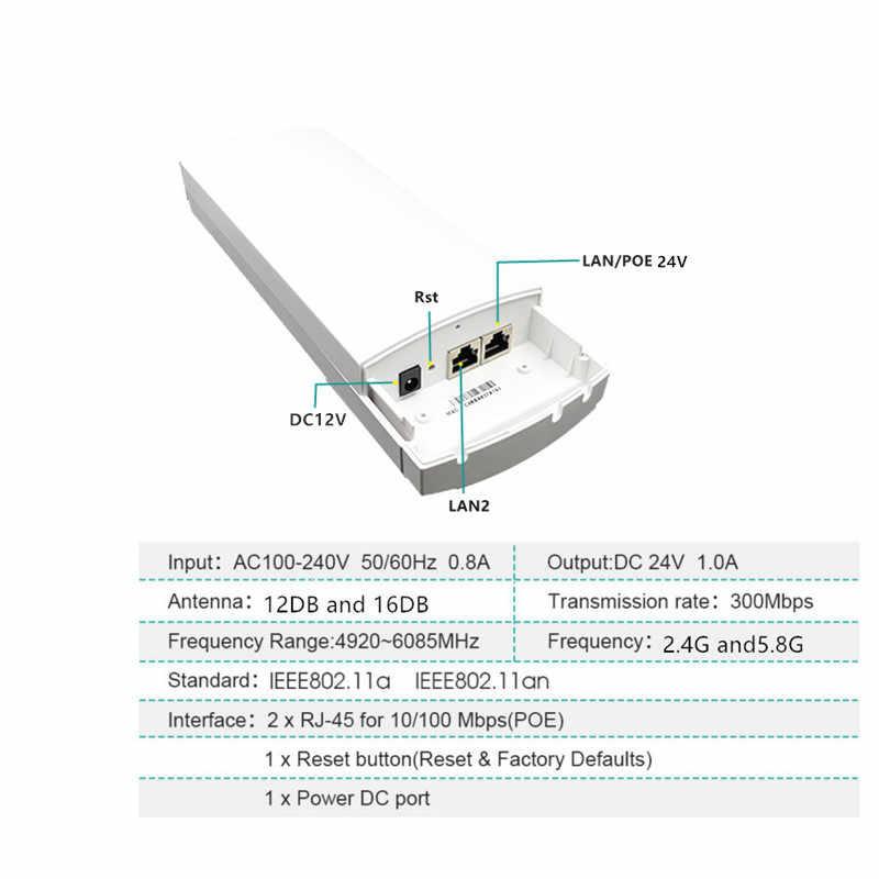 Enrutador CPE 2 piezas 1-3 km 300 Mbit abierto 2,4G inalámbrico Punto de Acceso router Wi-Fi puente dispositivo repetidor de doble banda wifi extensor