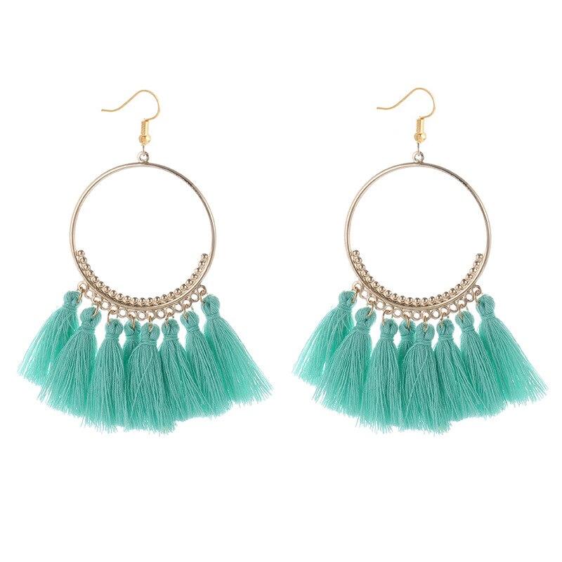 cjh004 Christmas Hoops Tassle Tassel Earrings Drop Fringe Earrings