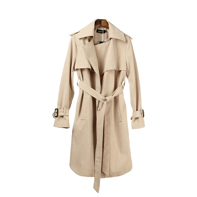 Liva girl 2019 Autumn Casual   Trench   Coat for Women Brand Plus Size Breasted Europe Long Double Windbreaker Outerwear Coats