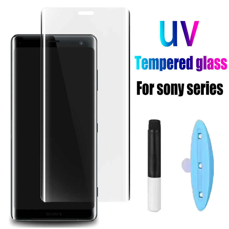 Transparent Color : Transparent Leya Screen Protector 25 PCS 9H 3D Full Screen Tempered Glass Film for Sony Xperia XZ1 Compact