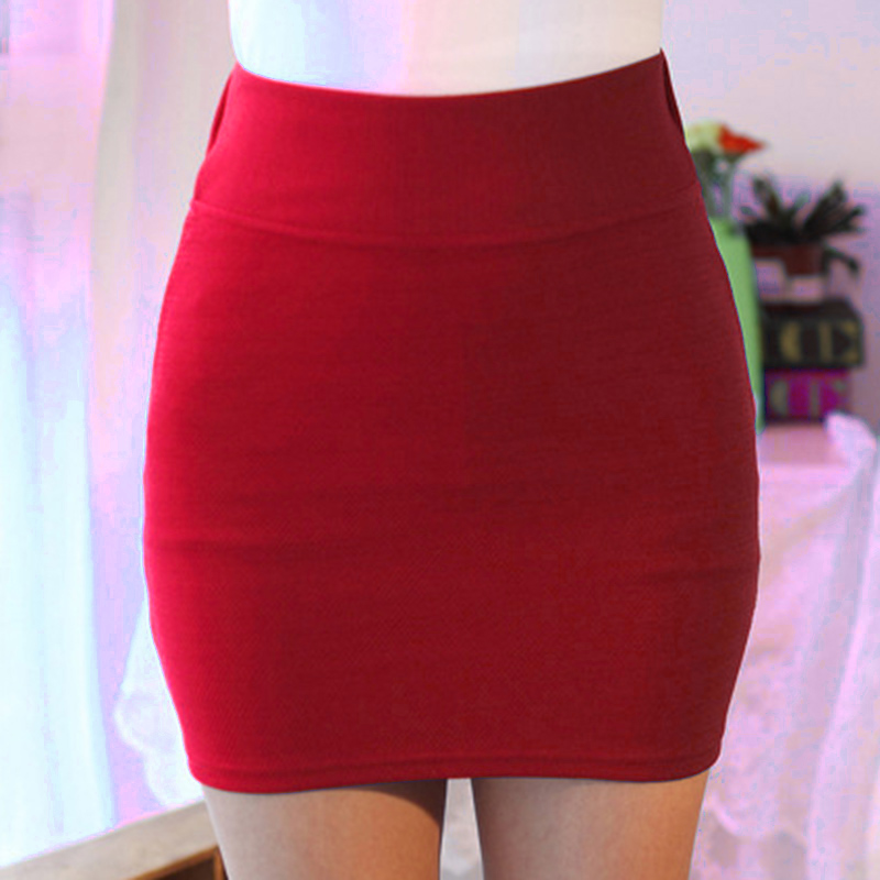 HOT Women Lady Solid Color Slim Elasticity Short Skirt Fashion For Summer Party 19ING