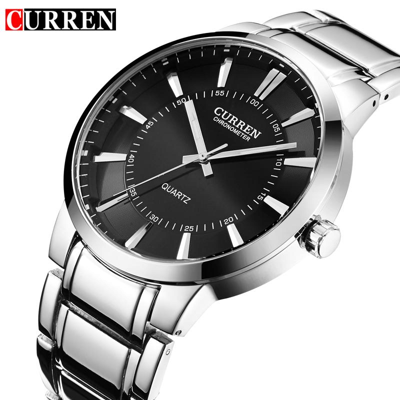 Prix pour Relojes Hombre Curren Hommes Montres Top Marque De Luxe En Acier Inoxydable Mâle Montres Horloge Hommes quartz-montre D'affaires Montre-Bracelet