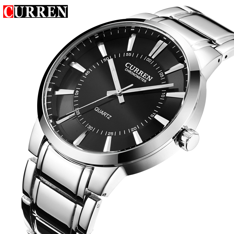 Relojes Hombre Curren Mens Watches Top Brand Luxury Stainless Steel Male Watches Clock Men quartz-watch Business Wrist Watch relojes hombre 2017 mens watches top brand luxury carnival simple relogio automatico masculino dress stainless steel gift clock