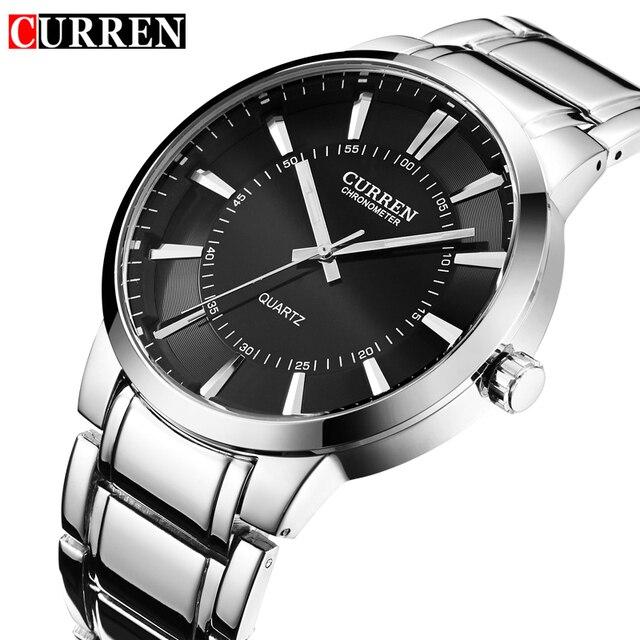 Relojes Hombre Curren Mens Watches Top Brand Luxury Stainless Steel Male Watches Clock Men quartz-watch Business Wrist Watch