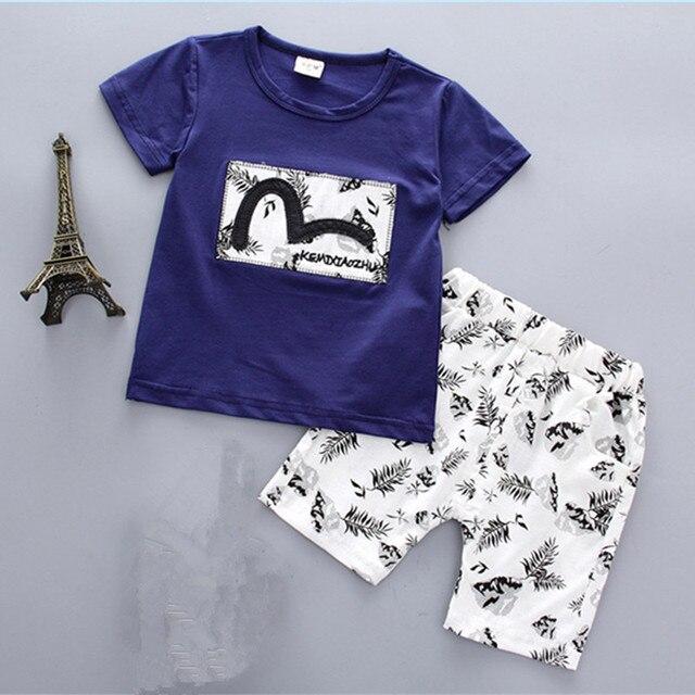 Summer Infant Baby Boys Clothes T-shirt+Short Pants 2pcs Newborn Outfits Sets Children Clothing Set Kids Tracksuits Sport Suit