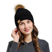 KLV Men Women Baggy Warm Crochet Winter Wool Knit Ski Beanie Skull Slouchy Caps Hat Autumn Spring Fashion Sretchy Soft